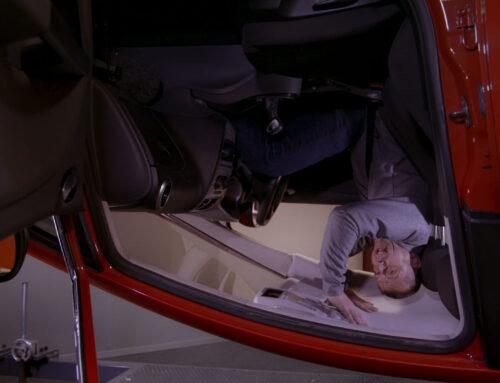 Salir de un coche volcado