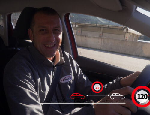 Conducir con la distancia de seguridad correcta